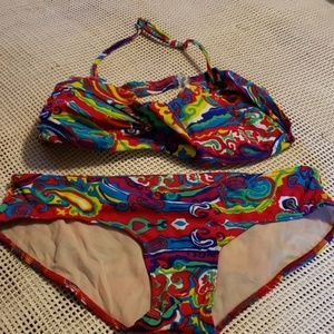 Alloy bikini set size L top M bottoms  so colorful